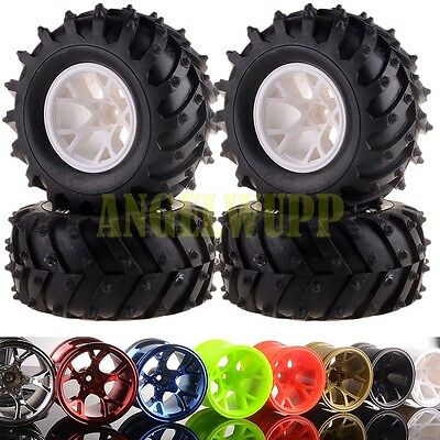 RC 1/10 Off Road Monster Truck Wheel Rim&Tyre Tires 6009-3002 HSP HPI 8Colors
