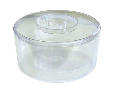 10 L Plastic Ice Bucket Clear Large Oval Ice Cube Wine Cooler Bar Cocktail