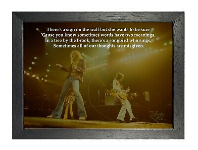 Led Zeppelin - Stairway To Heaven - Rock Lyrics Poster A3 A4 Or Laminated