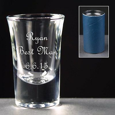 Personalised Shot Glass, Stag Night, Wedding Gift / Favour, Best Man, Usher,