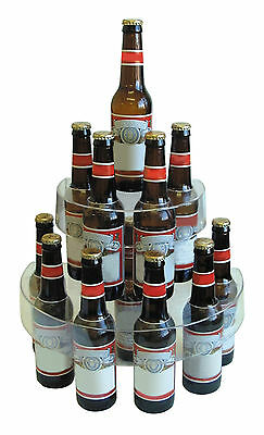 Clear Two Tier Plastic Bottle Display Stand Drinks Alcohol Back Bar Pub Beer
