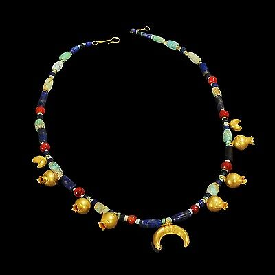Aphrodite- Ancient Bactrian Beaded Necklace