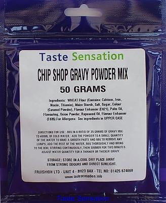 Chip Shop Style Gravy Powder Sauce Mix, 50Gram Pack Size, Various Quantities