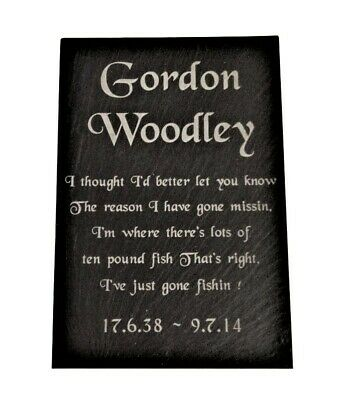 Personalised Engraved Slate Memorial Grave Marker Headstone Plaque 7 x 4""