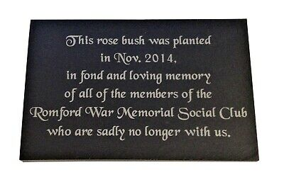 """Personalised Engraved Slate Memorial Grave/ Tree Marker Headstone Plaque 7 x 4"""""""
