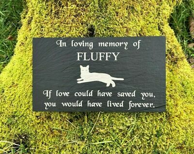 "Personalised Engraved Pet Memorial Headstone Grave Marker Plaque 7 x 4"" Dog Cat"