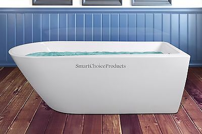 "69"" Modern Bathroom Rectangular Shower Spa Body Contemporary Soaking Bathtub"