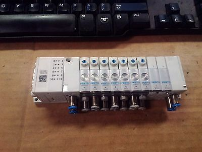 Festo Controller Block CPVSC1-AE12-MS15 Pneumatic Manifold Chassis with 7 Valves