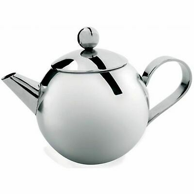 NEW STAINLESS STEEL TEAPOT WITH INFUSER Tea Pot Coffee Brew Leaf 950ml