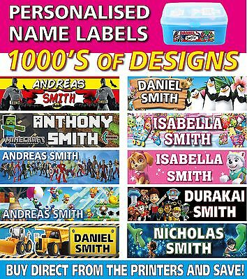 Personalised Kids Vinyl Name Labels - Drink Bottles Lunchbox School 45 labels