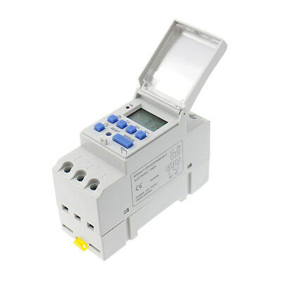 THC15A 12V DC DIN Rail Mount Weekly Programmable Electronic Relay Timer