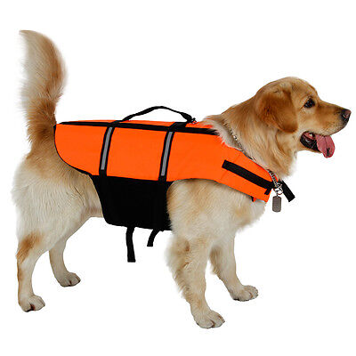Dog Vest for Swimming Safety Pet Clothes Yellow Life Jacket  For Puppy