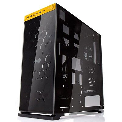 Inwin 805 Gold Black Midi Tower Gaming Case - USB 3.0