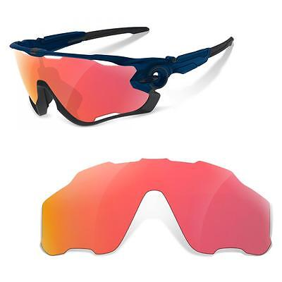 New SURE Polarized Replacement Lenses for Oakley Jawbreaker ( Ruby Red )