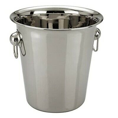 Stainless Steel Ice Bucket Champagne Wine Cooler with Handles 4L Bar Pub Party