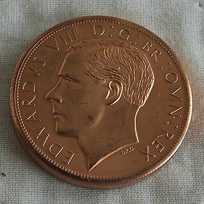 EDWARD VIII 1937 SCOTLAND COPPER PIEDFORT PROOF PATTERN CROWN -mintage 18