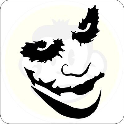 Joker M02 Aufkleber Maske Sticker Batman Clown
