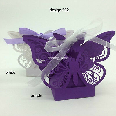 Luxury Laser Cut Sweets Cake Candy Gift Favour Favor Boxes-Butterfly #12