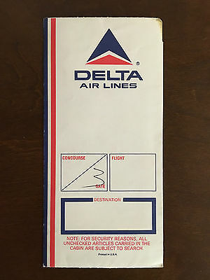 Vintage Delta  Air Lines Boarding Ticket Jacket Sleeve - Great Condition!