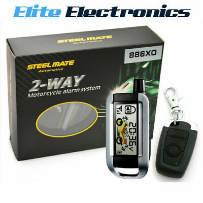 Steelmate 886Xo 2-Way Security Motorcycle Alarm Protection Bike Display Remote