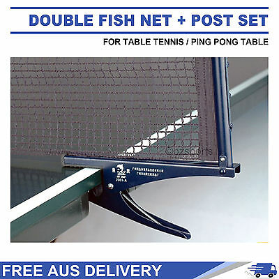 Df 2001-A Table Tennis / Ping Pong Clamp Net + Post Set Rrp $29 Free Delivery