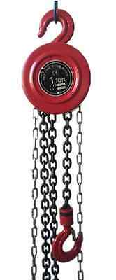 Chain Hoist 1 Ton 2000 Lb Capacity 8 ft Lift Engine Puller Pulley Winch Block