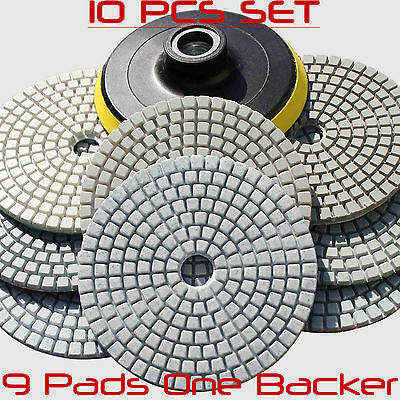 "10XDiamond Polishing Pads 4""Wet Dry M14 Thread For Shicai Concrete Stone Granite"