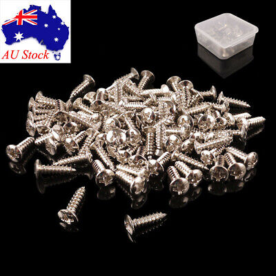 50 x Scratchplate Pickguard Screws for Tele Strat Electric Guitar Chrome & Box
