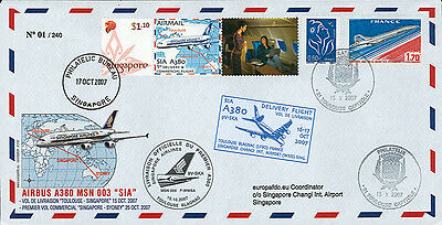 """FFC FRANCE-SINGAPORE """"A380 SIA - Delivery Flight Toulouse-Singapore"""" (T2) 2007"""