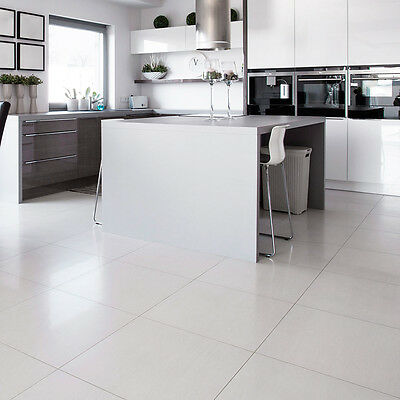 White Square Polished Porcelain Floor / Wall Tiles 600x600x9mm 5-10 Sqm Deals
