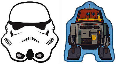 Star Wars Shaped Rug Mat For Character Bedroom Playroom Storm Trooper Rebel Tag