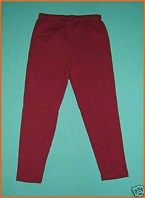 NEW Maroon Girl School Leggings Size 5,6,8,10,12