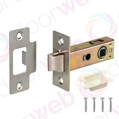 MORTICE TUBULAR LATCH Internal Quality Door Catch Strike Chrome Brass Satin PACK
