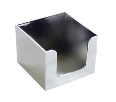Napkin Holder Tissue Box Chrome Colour Cube Square Bar Hotel Bedroom Reception