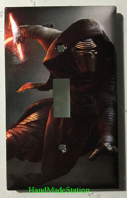 Star Wars Kylo Ren Light Switch Power Outlet Duplex wall Cover Plate Home decor