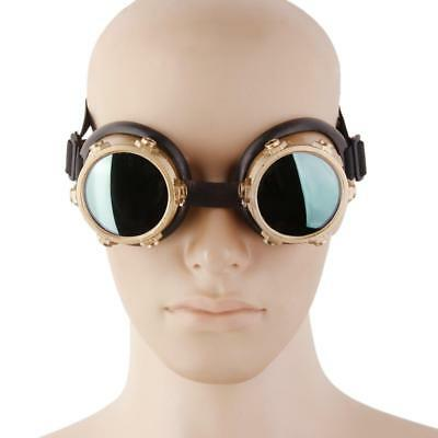 Vintage Victorian Steampunk Goggles Glasses Welding Cyber Punk Goth Cosplay