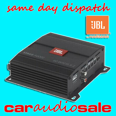 Jbl Stage A6002 2 Channel Car Van Speaker Bridgable Power Amplifier 120 Watt