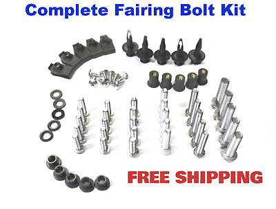 Complete Fairing Bolt Kit body screws for Ducati 848 2008 - 2009 Stainless; 1098