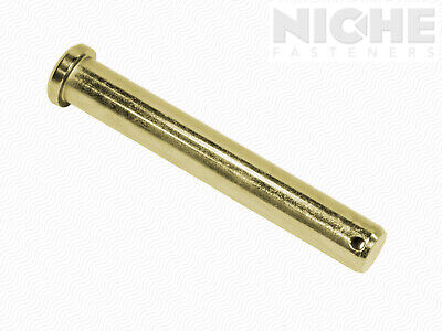Clevis Pin 5/8 x 3-1/2 Low Carbon Steel Zinc Yellow (20 Pieces)