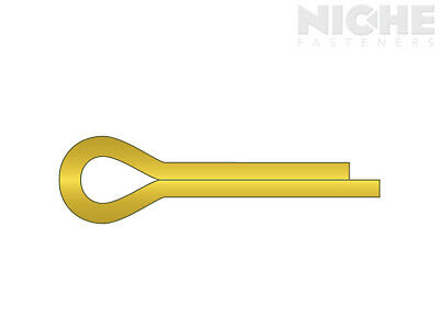 Cotter Pin 3/16 x 1-1/2 Brass  (50 Pieces)