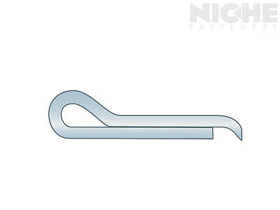 Cotter Pin Hammerlock 1/16 x 3/4 Carbon Steel Zinc Clear  (2000 Pieces)