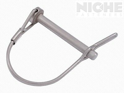 Snap Safety Pin Rd Two Wire Tab Lock 1/4 x 1-3/4 300 SS PV (20 Pieces)