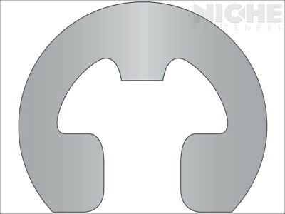 E-Clip Reinforced Retaining Ring Clip 1/4 SS PL (100 Pieces)