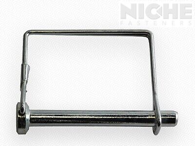 Snap Safety Pin Square Two Wire 1/4 x 2-1/4 Steel ZC (25 Pieces)