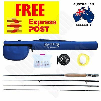 FLY FISHING STARTER COMBO OUTFIT 2.7M / 9ft Brinkworth Rod Xmas Gift Reel Flys