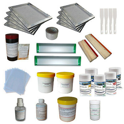 Screen Printing Simple Materials Kit T-Shirt Making Squeegee /Ink Hand Tools