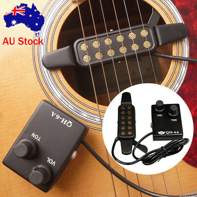 Passive Acoustic Guitar Pickup for Sound Hole Magnetic Preamp EQ Equalizer Tuner