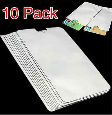 10X RFID Secure Sleeve Case Credit Card Holder Blocking Protector Shield