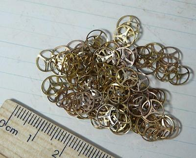Steampunk Watch Parts Gold Triangle Watch Cogs 7mm x 5GM Pack Approx 90PC