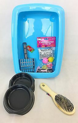 Cat Kitten Starter kit set / kitten starter pack with litter tray 42cm With Rim